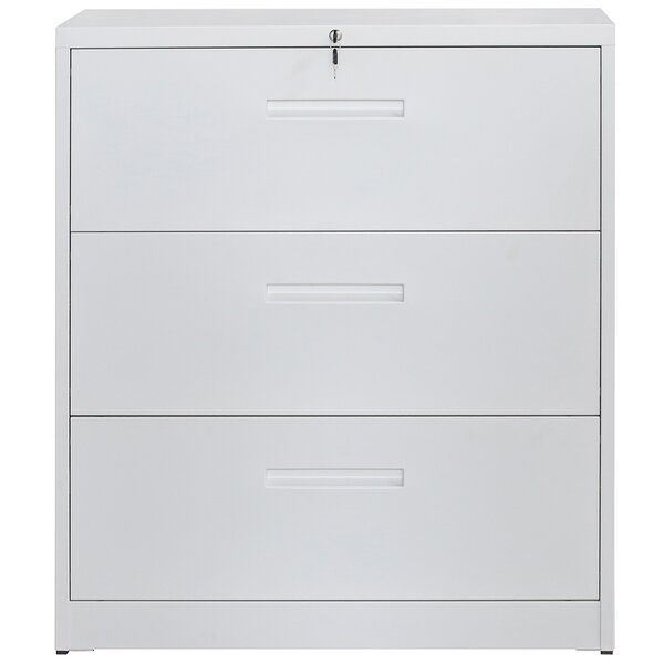 Lockable Metal Heavy Duty 3 Drawer Vertical Filing Cabinet