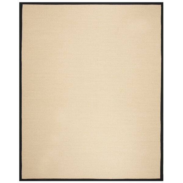 Cayman Beige/Black Area Rug by Highland Dunes