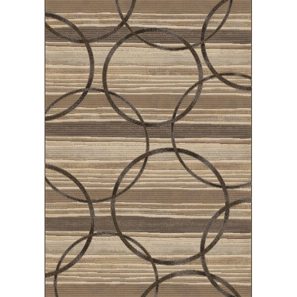 Makiver Silver/Brown Area Rug by Red Barrel Studio
