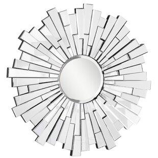 Brayden Studio Sunburst Silver Wall Mirror