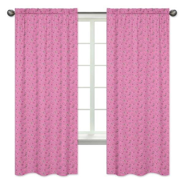 Cowgirl Bandana Window Curtain Panels (Set of 2) by Sweet Jojo Designs