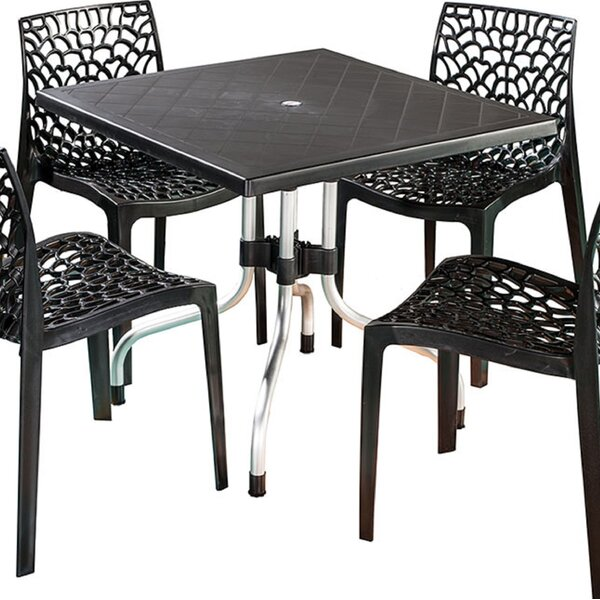 Escarcega Square Plastic Bistro Table by Ivy Bronx