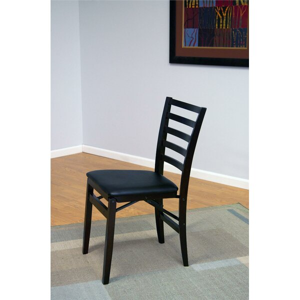 Contoured Back Wood Padded Folding Chair (Set of 2) by Cosco Home and Office