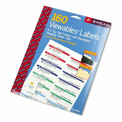 Viewables Pack Refill Labeling System, 160/Pack by Smead Manufacturing Company