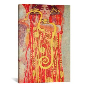 'Klimt Medicine' by Gustav Klimt Painting Print on Canvas by iCanvas