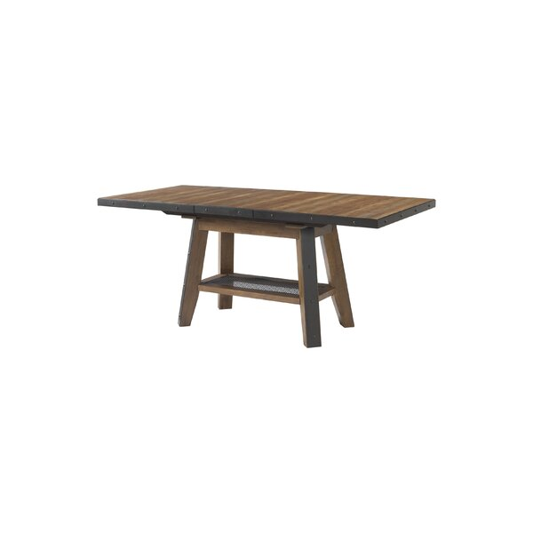Baulch Extendable Solid Wood Dining Table by Gracie Oaks Gracie Oaks