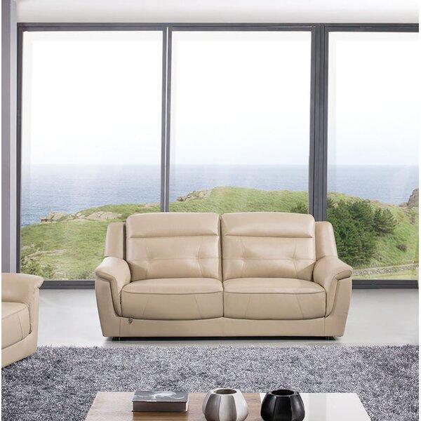 Deals Ugalde Leather Sofa