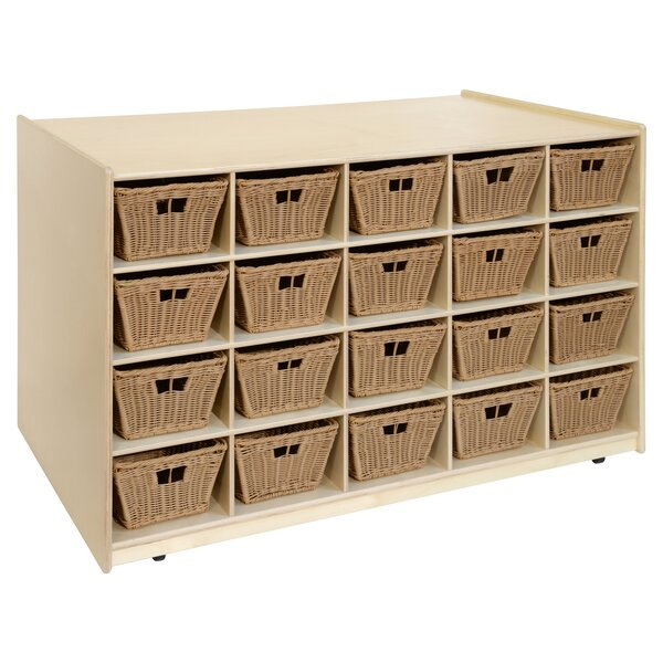 Double Sided 20 Compartment Cubby with Bins by Wood Designs