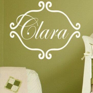 Personalized Princess Clara Wall Decal by Alphabet Garden Designs