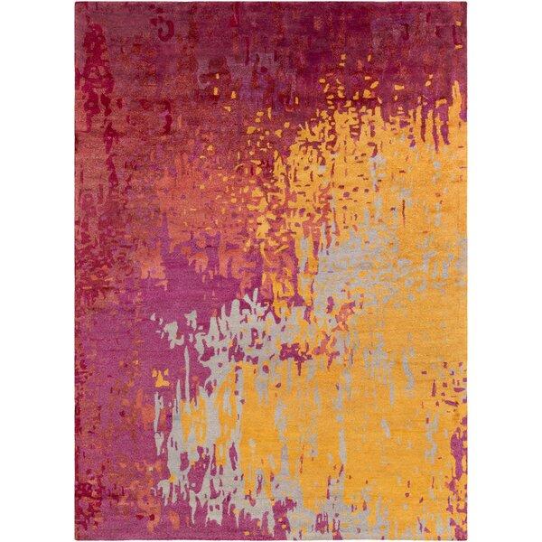 Johnna Hand-Tufted Burgundy/Gold Area Rug by Latitude Run