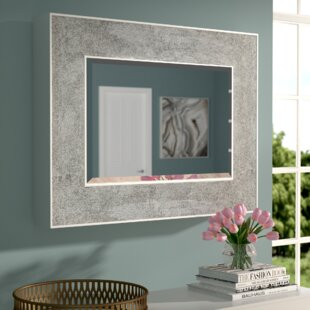 Willa Arlo Interiors Nidhi Rectangle Metal Wall Mirror