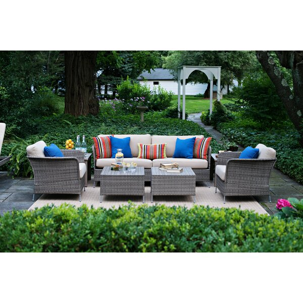 Addison Teak Deep Seating Group with Cushions by CO9 Design