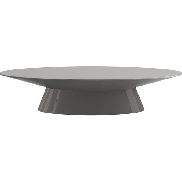 Quenby Solid Wood Pedestal Coffee Table By Orren Ellis