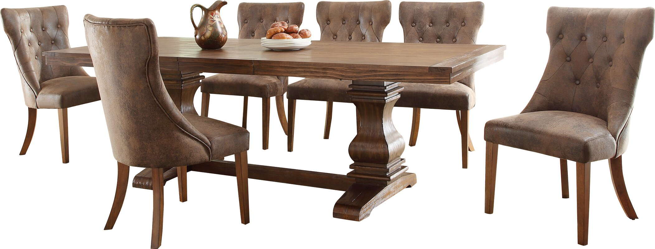 Take A Bite Out Of 24 Modern Dining Rooms: Lark Manor Parfondeval Extendable Wood Dining Table