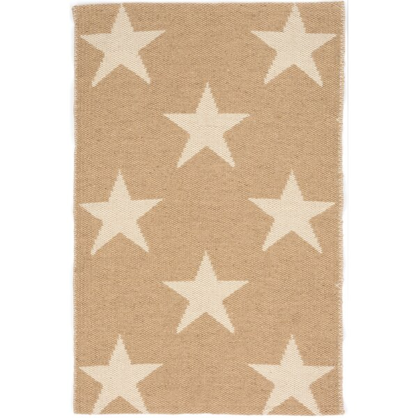 Star Hand Woven Beige/White Indoor/Outdoor Area Rug by Dash and Albert Rugs