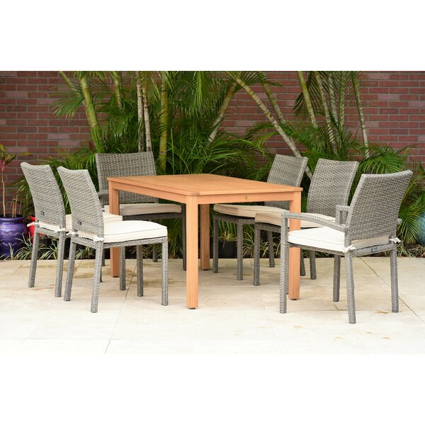Siebert 7 Piece Dining Set with Cushions (Set of 7) by Brayden Studio