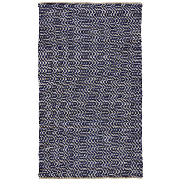 Kenzo Hand-Woven Cobalt Area Rug by Langley Street