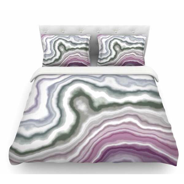 Wild Boysenberry  Geological Featherweight Duvet Cover by East Urban Home
