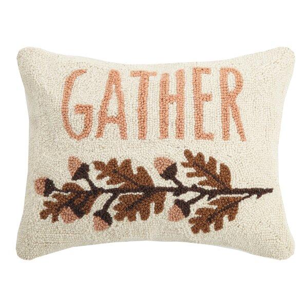 Murawski Gather Wool Throw Pillow by August Grove
