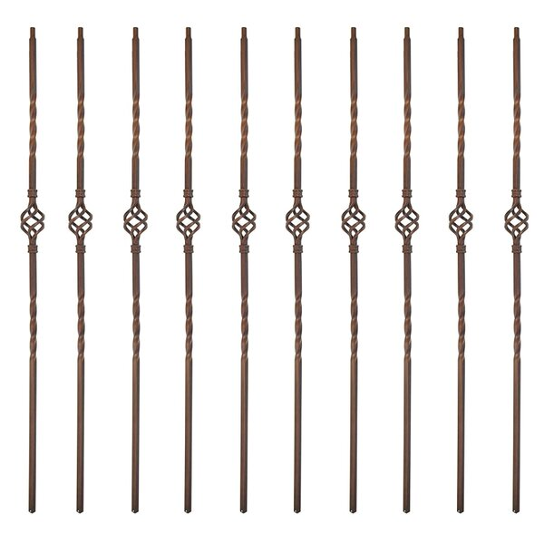 Single Basket Spindles Design Powder Coated Baluster (Set of 10) by ALEKO