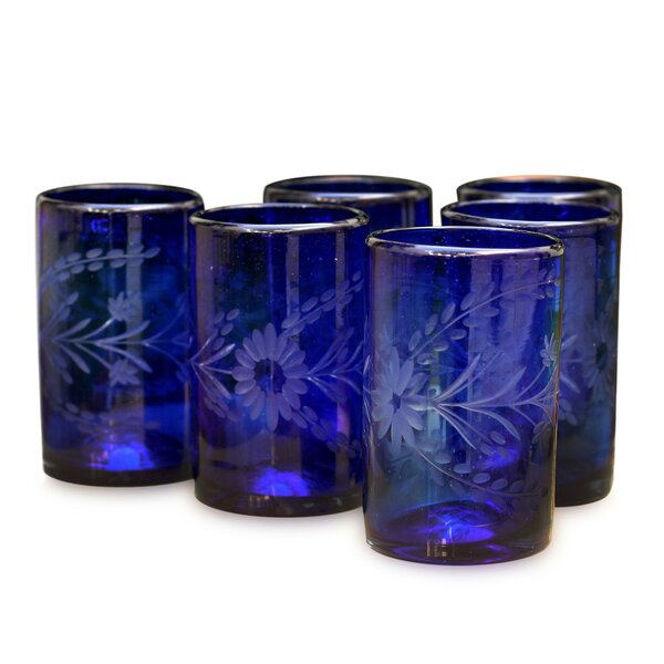 Javier and Efren 14 Oz. Water Glass (Set of 6) by Novica