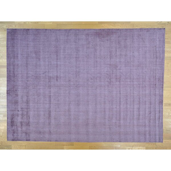 One-of-a-Kind Bean Handwoven Purple Wool/Silk Area Rug by Isabelline