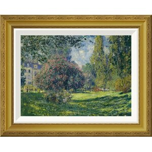 'Le Parc Monceau Paris' by Claude Monet Framed Painting Print by Global Gallery