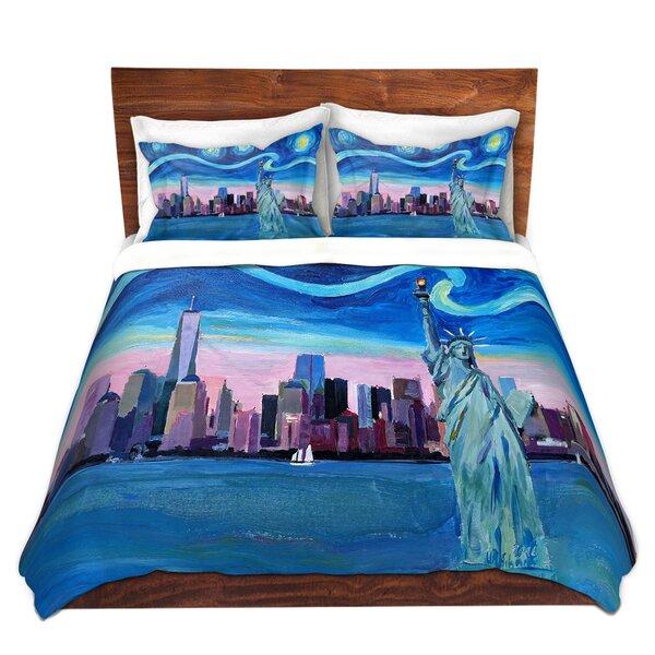 Starry Night New York City Duvet Cover Set