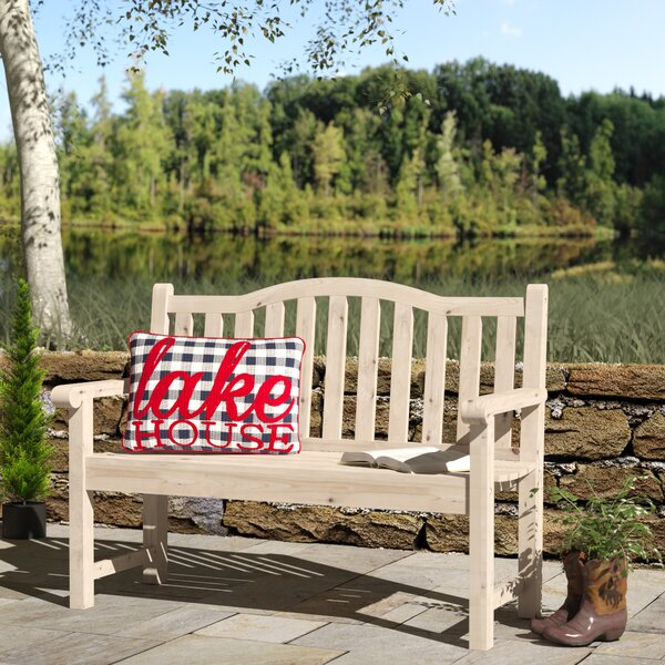 Embry Wooden Garden bench by Andover Mills Andover Mills