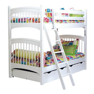 Check Prices Bonneau Twin over Twin Bunk Bed with Two Underbed Storage Drawers By Harriet Bee