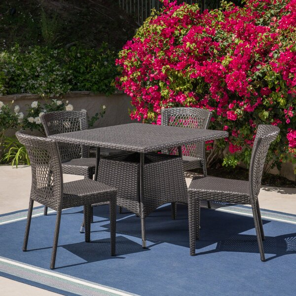 Moriarty Outdoor 5 Piece Dining Set by Charlton Home