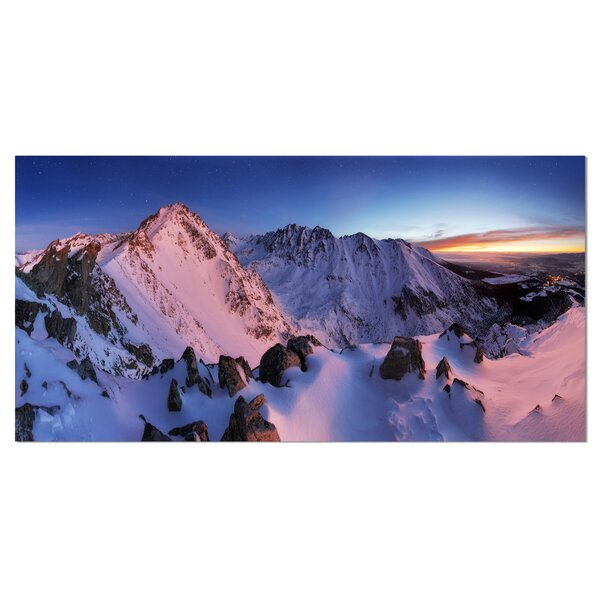 Slovakia Tatras Winter Mountains Photographic Print on Wrapped Canvas by Design Art