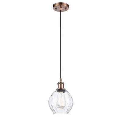 Rosecliff Heightsjaron 1 Light Single Globe Pendant Rosecliff Heights Finish Antique Copper Bulb Type 3 5 Watt Vintage Led Bulb Dailymail