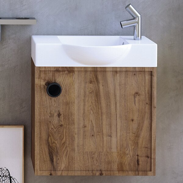 Minimal Ceramic Ceramic Rectangular Vessel Bathroom Sink with Overflow by WS Bath Collections