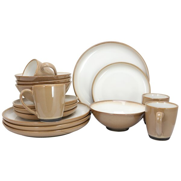 Serene Fountain 16 Piece Dinnerware Set, Service for 4 by Gibson Elite