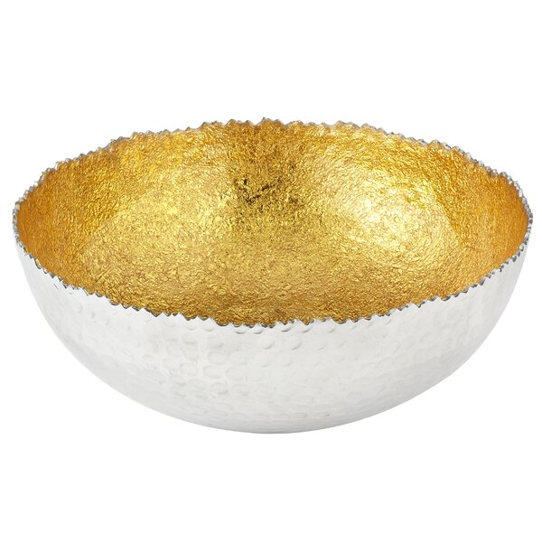 Minnis Sparkle Leaf Salad Bowl (Set of 2) by Orren Ellis