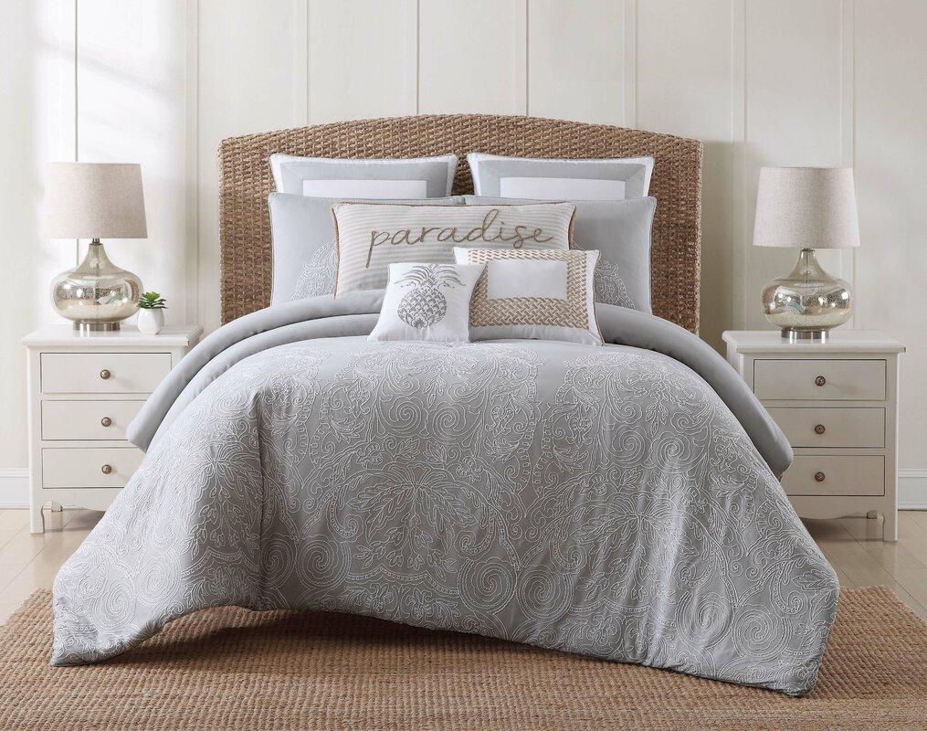 beachcrest home java graywhite comforter set  reviews  wayfair - java graywhite comforter set