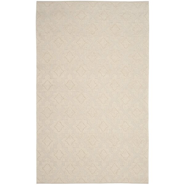Xamiera Hand Tufted Wool Ivory Medallion Area Rug by Gracie Oaks