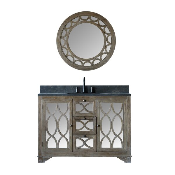 Bermuda Solid Elm 48 Single Bathroom Vanity Set with Mirror by Rosecliff Heights