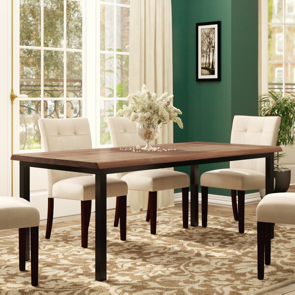 George Walnut Dining Table with Live Edge by Gingko Home Furnishings