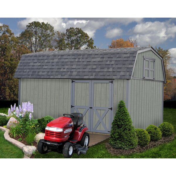 Meadowbrook 10 ft. W x 16 ft. D Solid Wood Storage Shed by Best Barns