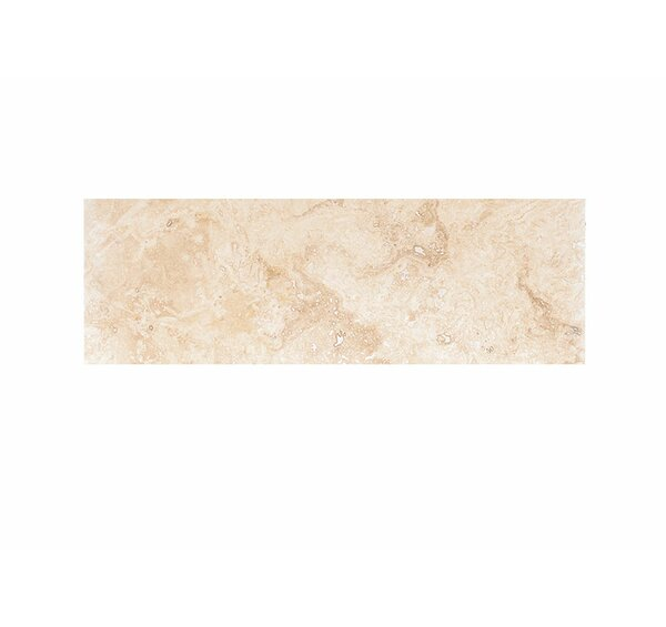 6 x 18 Travertine Field Tile in Ivory Honed by Parvatile