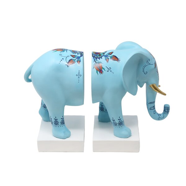 Elephant Resin Bookends by Bloomsbury Market