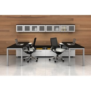 Trig Mirror 6 Piece U-Shape Desk Office Suite