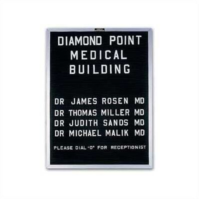 Open Face Wall Mounted Letter Board by Marsh