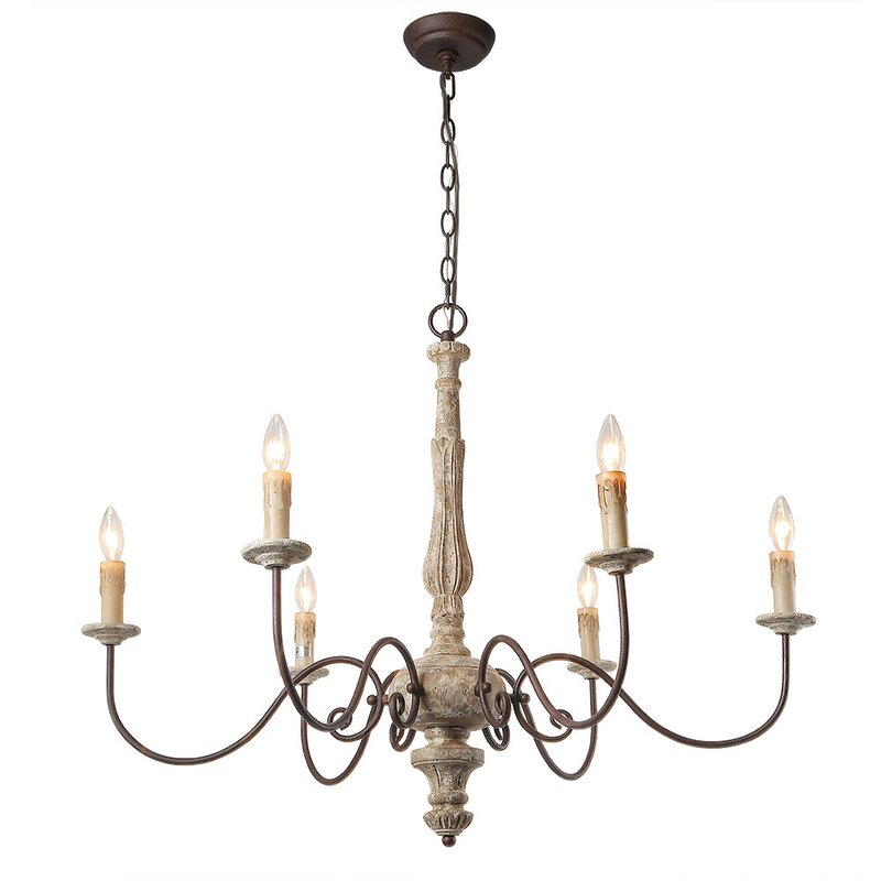 Leib Elegance French Country 6-Light Candle-Style Chandelier