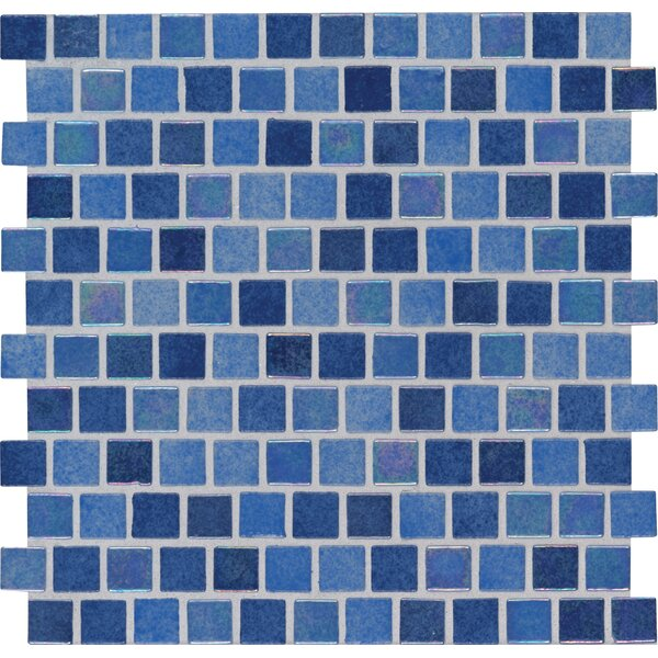 Hawaiian Sky 1 x 1 Glass Mosaic Tile in Blue by MSI