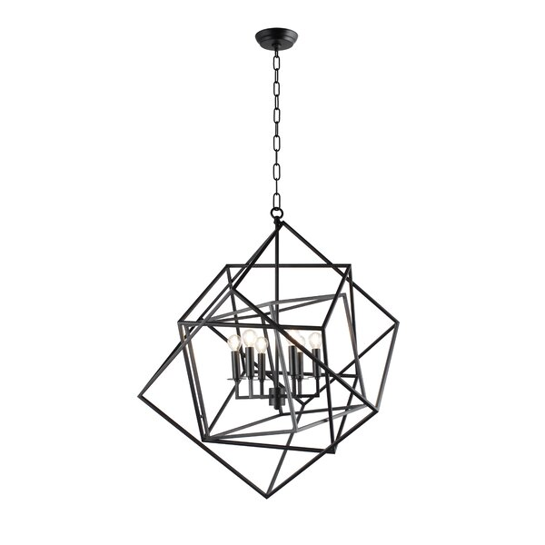 Beechmeadow 6 - Light Candle Style Geometric Chandelier By Wrought Studio