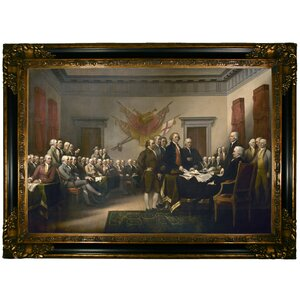 'The Signing of the Declaration of Independence' by John Trumbull Framed Painting Print by Historic Art Gallery