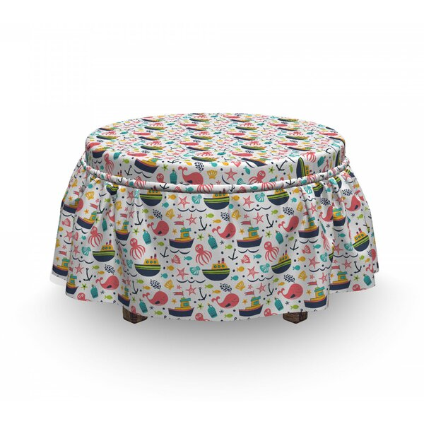 Nursery Summer Ottoman Slipcover (Set Of 2) By East Urban Home